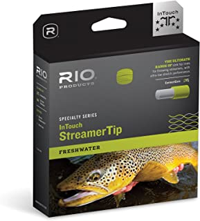 RIO Fly Fishing Fly Line InTouch Streamer tip 10' Type 6 Wf7F/S6 Fishing Line, Black-White-Pale-Green