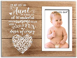 VILIGHT Aunt Picture Frame Gifts from Niece and Nephew - Funny for Auntie - 4x6 Inches Photo