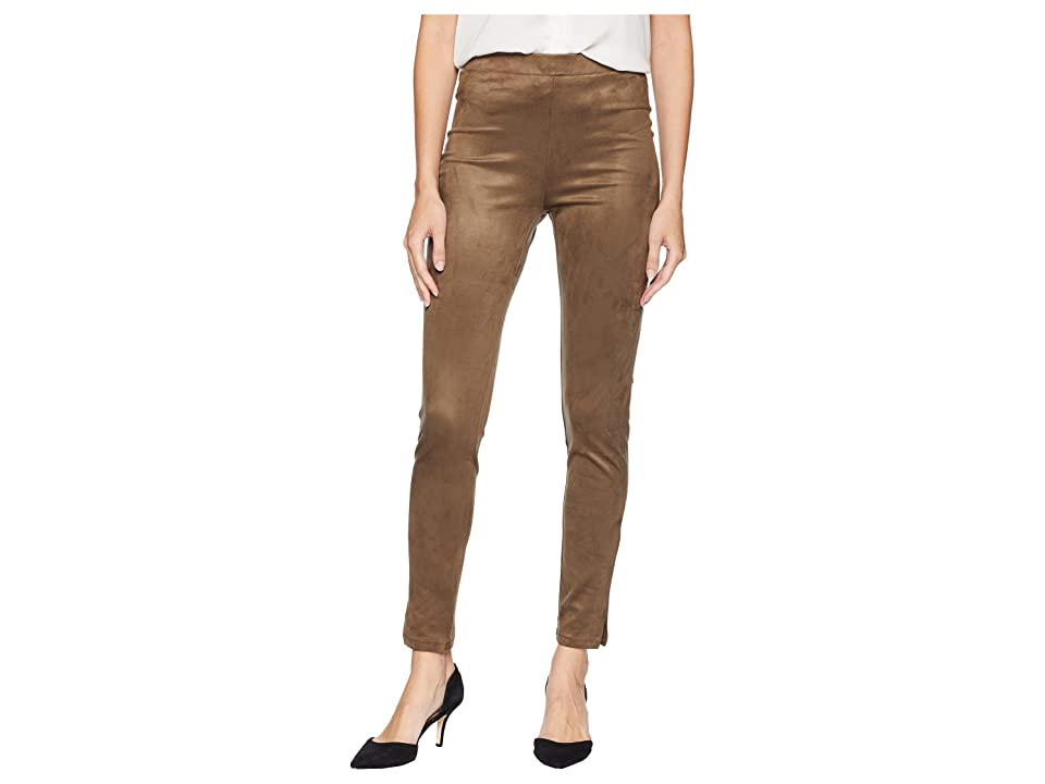 Karen Kane Faux Suede Slit-Hem Pants (Earth) Women