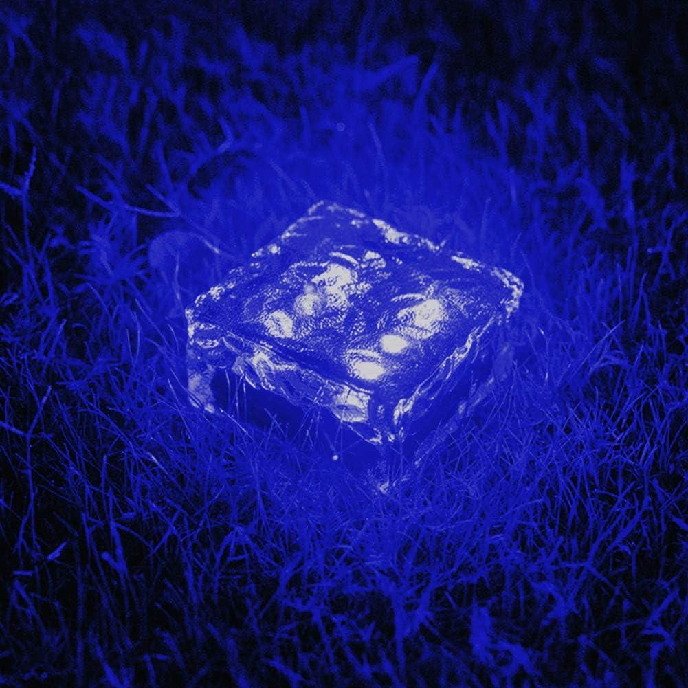 WUERLIN Solar Garden Lights New life Very popular! Outdoor Brick Cube Glass Ice
