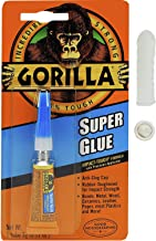 Gorilla Super Glue, 3 g, Clear with 10 Disposable Latex Finger Cots Rubber Fingertips