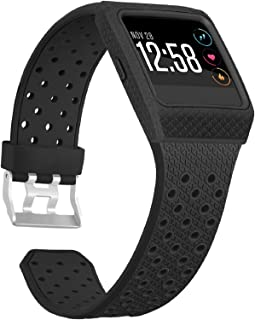 SKYLET Compatible with Fitbit Ionic Bands with Case, Soft Sport Wristband Compatible with Fitbit Ionic Smart Watch with Me...
