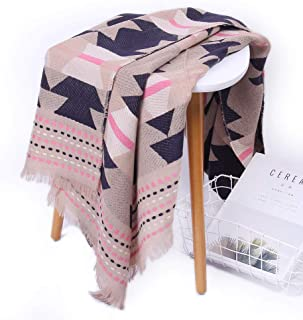 HZWLadies Scarf, Women Fashion Scarves Long Shawl Fall Winter Warm Plaid Check Solid Scarf Pure Natural to Any Outfit Length200cm Width70cm