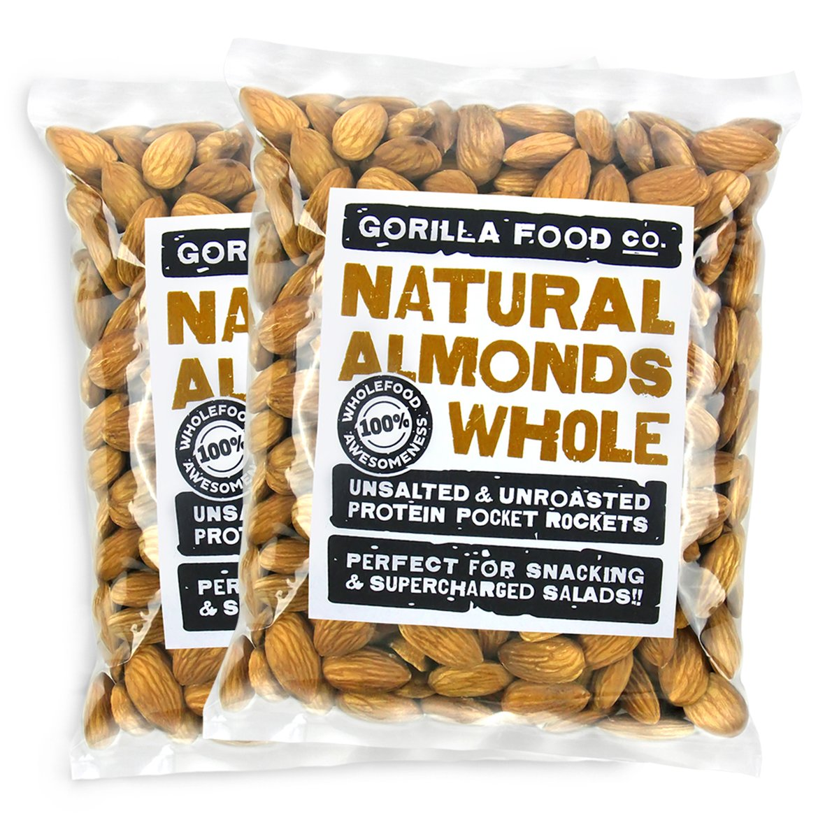 Gorilla Food Gifts Free shipping New Co. Premium California Whole - Almonds Unsalted Raw
