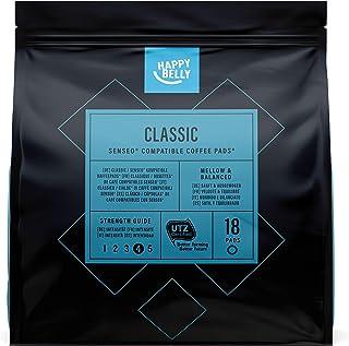 Marca Amazon- Happy Belly Cápsulas Classic , compatibles con Senseo*- café certificado UTZ, 90 cápsulas (5x18)