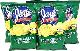 JAY'S Sour Cream & Onion Ridges Potato Chips 5 Pack 1.25 oz bags