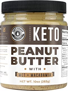 Keto Peanut Butter with Macadamia Nuts and MCT Oil 10oz - [Smooth] Keto Nut Butter Spread | Perfect fat bomb, low carb ket...