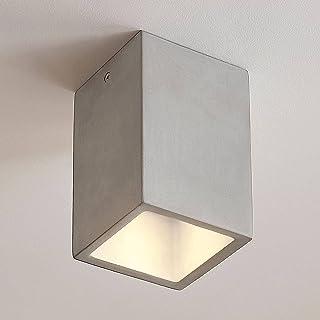 Lindby Plafonnier en béton 'Gerda' à intensité variable (Moderne) en Gris e. a. pour Couloir (1 lampe,à GU10, A++)   Lumin...