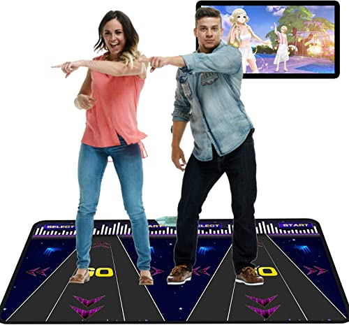 lowest Dance Mat Yoga Blanket, 3D Game 2021 Blanket Pad, Dancing online Learning Machine, Light, Indoor Home Fitness Yoga Mat for 2 People, Home Entertainment Mat for Adults and Kids outlet sale