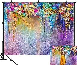 DePhoto 9X6FT Spring Fantasy Colorful Flowers Wedding Party Seamless Vinyl Photography Backdrop Photo Background Studio Prop PGT334B