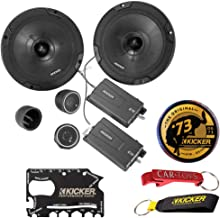 "Kicker 46CSS674 CS Series Component Car Speakers and Kicker Swag Bag Bundle. 100 Watts RMS 300 Watts Peak 6-3/4"" Extended ... photo"