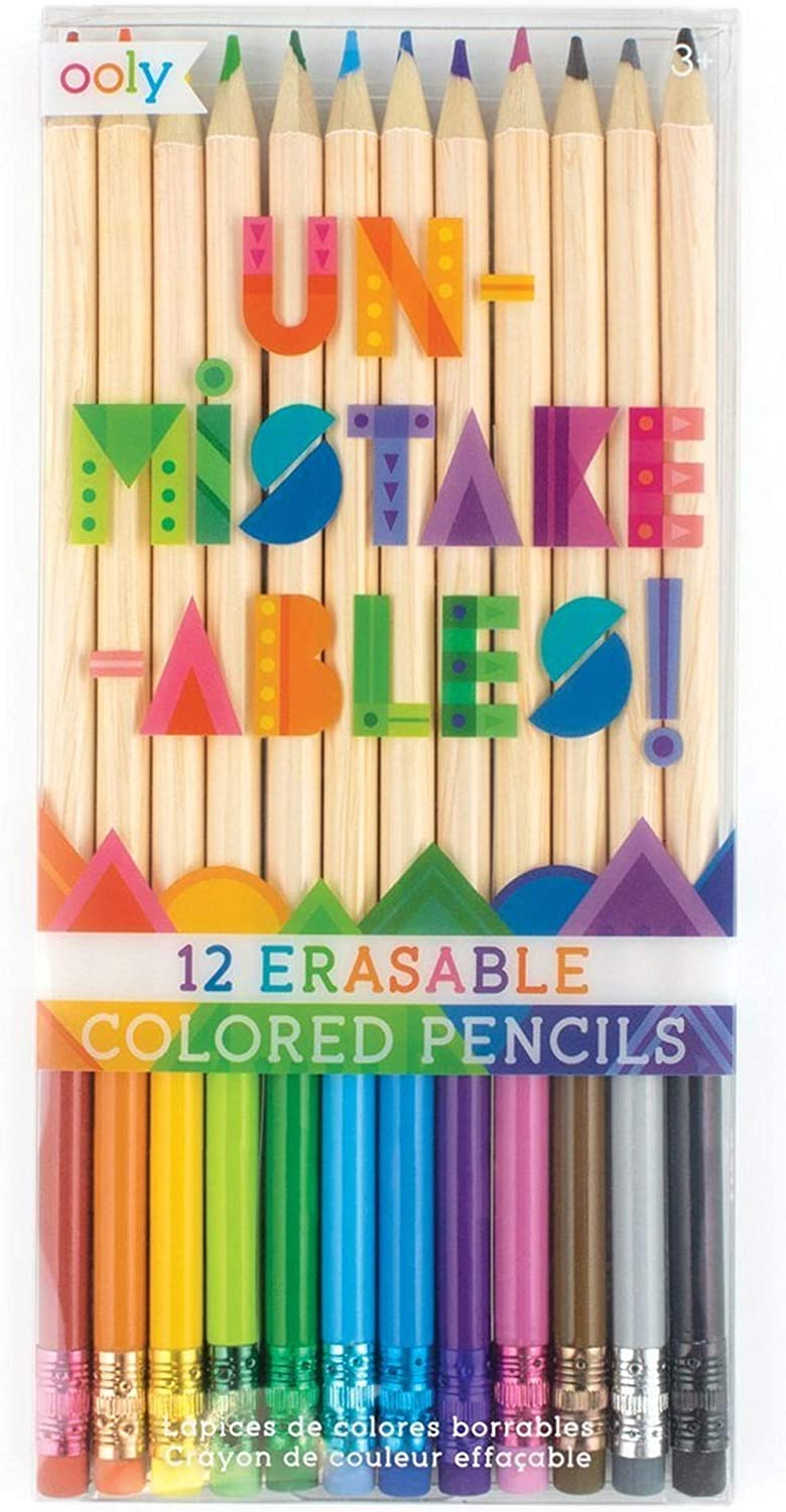 OOLY UnMistakeAbles Erasable Colored Pencils Max 45% OFF Year-end annual account F and Mess Stress