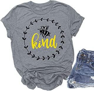 Women Bee Kind T-Shirt Graphic Shirt