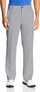Men's Flat Front Traditional Slim Fit Basic Microtwill Golf Pant