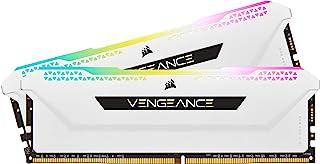 Corsair Vengeance RGB Pro 16GB (2x8GB) DDR4 3600 (PC4-28800) C18 1.35V Desktop Memory - White (CMH16GX4M2D3600C18W)