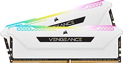 Corsair Vengeance RGB Pro SL 32GB (2x16GB) DDR4 3600 (PC4-28800) C18 1.35V Desktop Memory - White (CMH32GX4M2D3600C18W)
