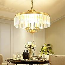 European Crystal Restaurant Chandelier Simple Creative Home Bedroom Study Chandelier E14x3/5 Diameter 35/50cm (Size : 5 Li...