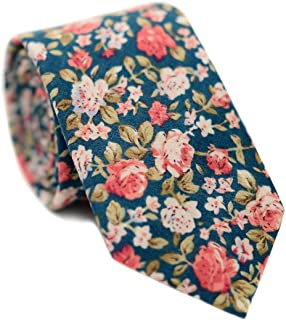 Men's Cotton Printed Floral Tie 2.56