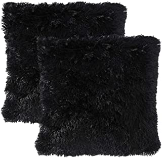 MIULEE Pack of 2 Luxury Faux Fur Throw Pillow Cover Deluxe Decorative Plush Pillow Case Cushion Cover Shell for Sofa Bedro...