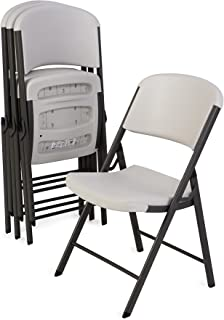 Lifetime 42803 Classic Commercial Grade Folding Chair, Almond, 4 Pack