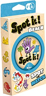 Spot It! Beach   Fun Family Game   Game for Kids   Age 6+   2 to 8 Players   Average Playtime 15 Minutes   Made by Zygomatic