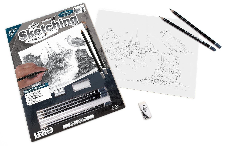 Royal and Langnickel Sketching Made Easy, Fishing Pier