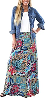 Women's Bohemian Print Long Maxi Skirt