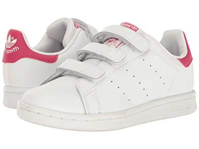 adidas Originals Kids Stan Smith J/CMF C/CMF INF (Little Kid) (White/White/Bold Pink) Girls Shoes