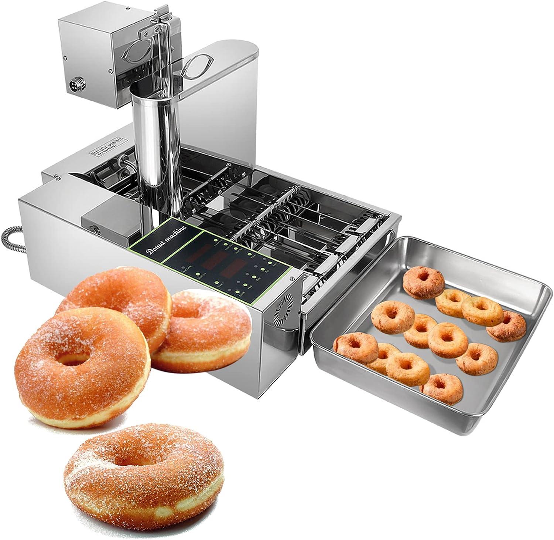 Mini Donut Makers De 2000 W, Freidora De Donuts Manual Comercial Mini Donut Maker, Espesor Ajustable 6l Capacidad Hopper Donut Fryer
