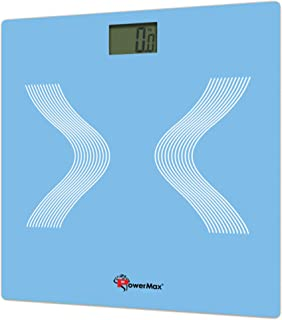 PowerMax Fitness® BSD-2 Digital Bathroom Weight Scale, Skyblue, Foot Size : 9
