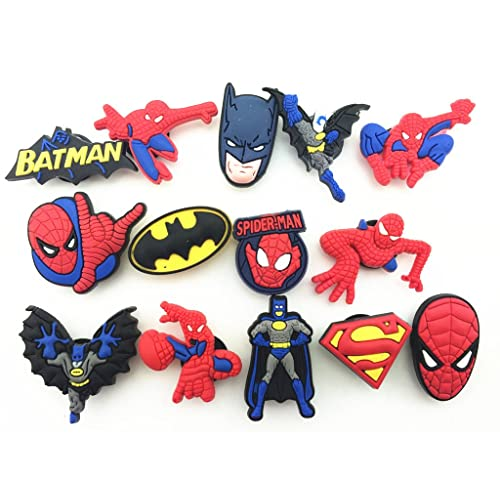 86acd191063f 12 Spiderman   Batman Shoe Charms for Croc Shoes   Wristband Bracelet