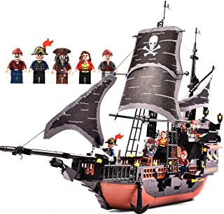 Building Blocks Multi-Functional Assembling Toys Inserting Blocks Educational Toys Pirate Ship Model 652 Blocks