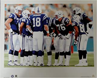 3ee56fdeb Peyton Manning 18x22 Unsigned Lithograph Poster Print Indianapolis Colts  Huddle