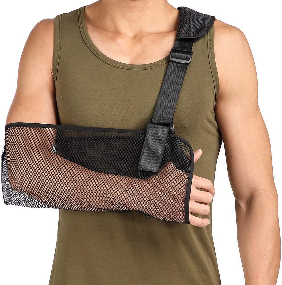 Cool Mesh Daily bargain sale Arm Sling Medical Immobilizer R Philadelphia Mall Shoulder Thumb Support