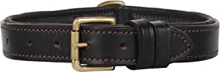 Rustic Town Genuine Leather Dog Collar - Pet Collar with Brass Buckles and D Rings for Name Tags/Plate - Perfect Size Collars for Small, Medium and Large Size Dog (10 to 19 inches)