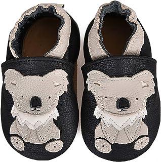 Chaussons Bébé Fille Garçon Premiers Pas Chaussures Cuir Souple Bébé antidérapants Mignon Colorée Animaux Pantoufles