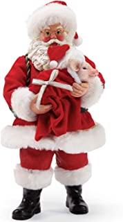 Department 56 Possible Dreams Santa and His Pets Pig in a Blanket Figurine, 10.5