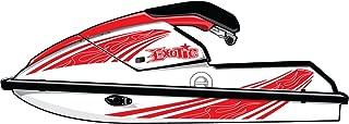 Exotic Signs Kawasaki Jet Ski 650 SX Graphic Kit, 1 Color Pinstripe Flames - EK0017K650
