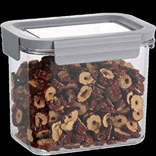 Ensemble de bocaux de stockage des aliments en plastique, boîte de rangement transparente étanche à l'humidité, récipients...