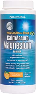 NaturesPlus Kalmassure Magnesium Powder - 400 mg, Vegan Powder - Orange Flavor - Natural Stress Relief, Supports Nerve and...