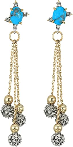 Alexis Bittar - Crystal Encrusted Dangling Sphere Post Earrings