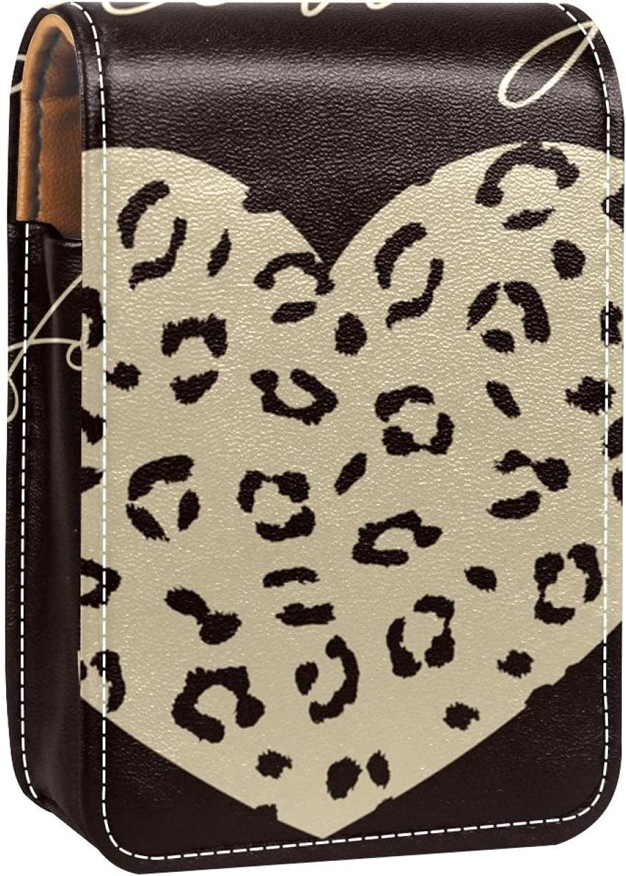 Lipstick Case Don't miss the campaign With 2021 new Mirror Follow Your L Love Heart Grain Leopard