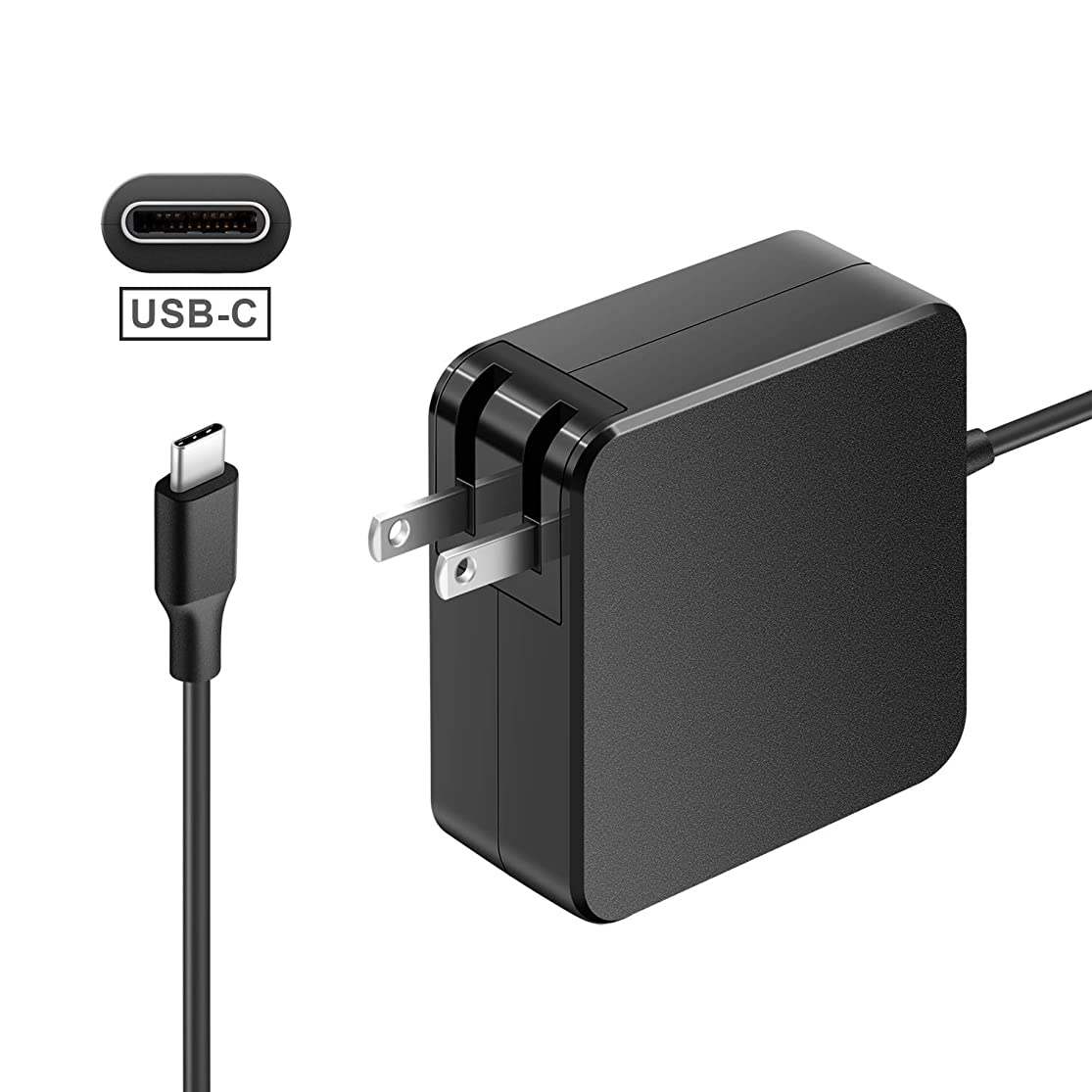 Aisilk Type C Adapter 65W USB-C Wall Charger with Power Delivery for MacBook/Pro, Dell, hp, Lenovo, Asus, Acer, Thinkpad, Matebook, Razer, Google, and More laptops Tablets and Cell Phones myogabpv1