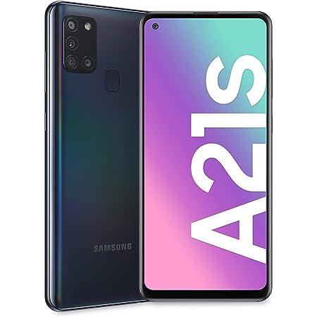 "Samsung Galaxy A21s, Smartphone, Display 6.5"" HD+, 4 Fotocamere Posteriori, 32 GB Espandibili, RAM 3 GB, Batteria 5000 mAh, 4G, Dual Sim, Android 10, 192 g, Nero (Black)"