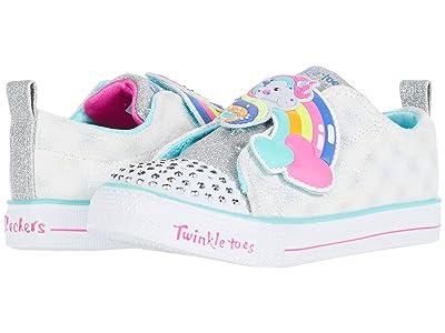 SKECHERS KIDS Twinkle Toes Shuffle Lites 20323N (Toddler/Little Kid) (White Multi) Girl