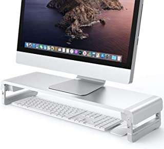 Monitor Stand Riser Aluminum Computer Monitor Stand with 3 Adjustable Height for i'Mac,TV,Computer,Desktop,Laptop,Klearlook Space-Saving Desk Organizer [Silver]