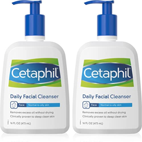 Cetaphil Daily Facial Cleanser Wash for Combination to Oily Sensitive Skin, Gentle Foaming Deep Clean Without Strippi...
