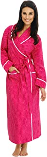 Alexander Del Rossa Women's Lightweight Cotton Kimono Robe, Summer Bathrobe