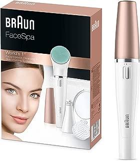 Braun FaceSpa 851 - Sistema 3 en 1 de depiladora facial,