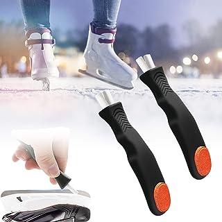 ROLLMOSS 2 Pcs Ice Skate Sharpener, Ice Hockey Skate Skating Edge Blades Sharpener, Hand Held Skate Sharpener Great for Fi...